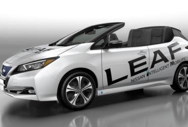 Nissan a dezvăluit o versiune decapotabilă a noului vehicul electric Leaf